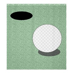 Golf Image Ball Hole Black Green Shower Curtain 66  X 72  (large)  by Alisyart
