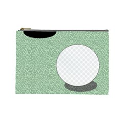 Golf Image Ball Hole Black Green Cosmetic Bag (large)  by Alisyart