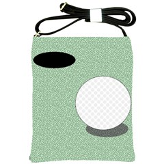 Golf Image Ball Hole Black Green Shoulder Sling Bags by Alisyart
