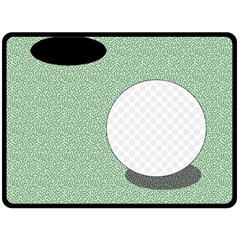 Golf Image Ball Hole Black Green Fleece Blanket (large)  by Alisyart