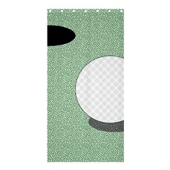 Golf Image Ball Hole Black Green Shower Curtain 36  X 72  (stall)  by Alisyart