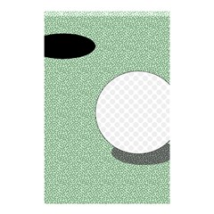 Golf Image Ball Hole Black Green Shower Curtain 48  X 72  (small)  by Alisyart