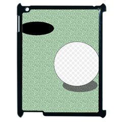 Golf Image Ball Hole Black Green Apple Ipad 2 Case (black) by Alisyart