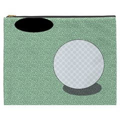 Golf Image Ball Hole Black Green Cosmetic Bag (xxxl)