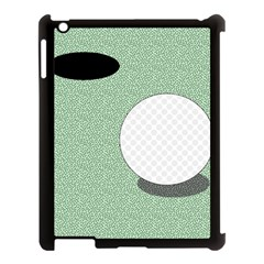 Golf Image Ball Hole Black Green Apple Ipad 3/4 Case (black) by Alisyart