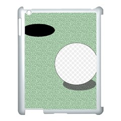Golf Image Ball Hole Black Green Apple Ipad 3/4 Case (white) by Alisyart
