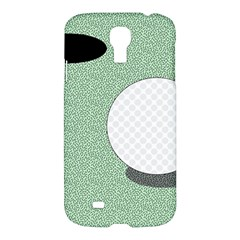 Golf Image Ball Hole Black Green Samsung Galaxy S4 I9500/i9505 Hardshell Case by Alisyart