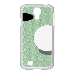 Golf Image Ball Hole Black Green Samsung Galaxy S4 I9500/ I9505 Case (white) by Alisyart