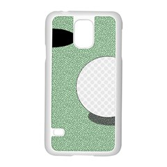 Golf Image Ball Hole Black Green Samsung Galaxy S5 Case (white)