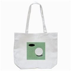 Golf Image Ball Hole Black Green Tote Bag (white) by Alisyart