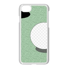 Golf Image Ball Hole Black Green Apple Iphone 7 Seamless Case (white)