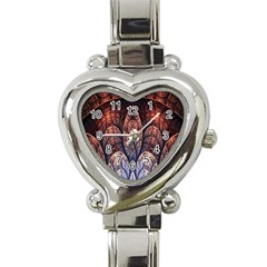 Abstract Fractal Heart Italian Charm Watch