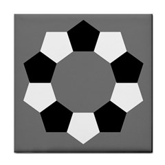 Pentagons Decagram Plain Black Gray White Triangle Tile Coasters by Alisyart