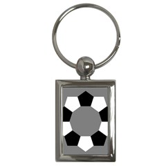 Pentagons Decagram Plain Black Gray White Triangle Key Chains (rectangle)