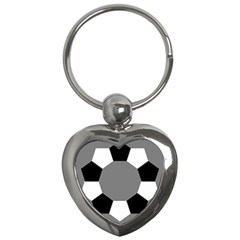 Pentagons Decagram Plain Black Gray White Triangle Key Chains (heart)  by Alisyart