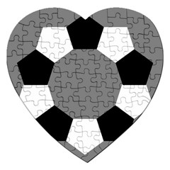 Pentagons Decagram Plain Black Gray White Triangle Jigsaw Puzzle (heart) by Alisyart