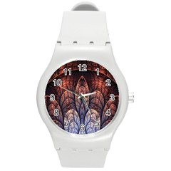 Abstract Fractal Round Plastic Sport Watch (m) by Simbadda