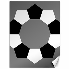 Pentagons Decagram Plain Black Gray White Triangle Canvas 36  X 48   by Alisyart