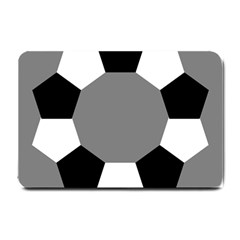 Pentagons Decagram Plain Black Gray White Triangle Small Doormat