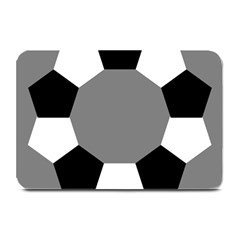Pentagons Decagram Plain Black Gray White Triangle Plate Mats
