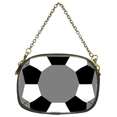 Pentagons Decagram Plain Black Gray White Triangle Chain Purses (two Sides)