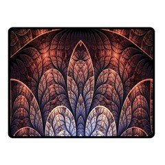 Abstract Fractal Double Sided Fleece Blanket (small)  by Simbadda