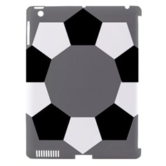 Pentagons Decagram Plain Black Gray White Triangle Apple Ipad 3/4 Hardshell Case (compatible With Smart Cover) by Alisyart