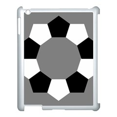 Pentagons Decagram Plain Black Gray White Triangle Apple Ipad 3/4 Case (white)