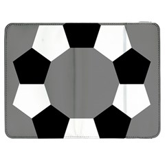 Pentagons Decagram Plain Black Gray White Triangle Samsung Galaxy Tab 7  P1000 Flip Case by Alisyart