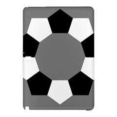 Pentagons Decagram Plain Black Gray White Triangle Samsung Galaxy Tab Pro 12 2 Hardshell Case by Alisyart