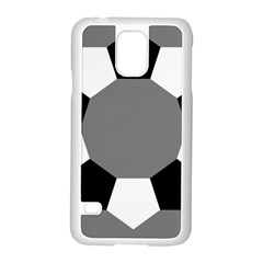 Pentagons Decagram Plain Black Gray White Triangle Samsung Galaxy S5 Case (white)