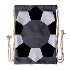 Pentagons Decagram Plain Black Gray White Triangle Drawstring Bag (large) by Alisyart