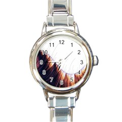 Abstract Lines Round Italian Charm Watch