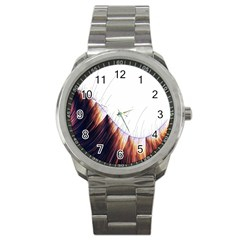 Abstract Lines Sport Metal Watch by Simbadda