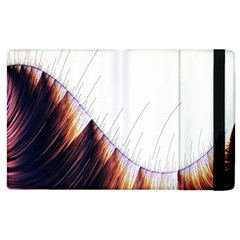 Abstract Lines Apple Ipad 2 Flip Case
