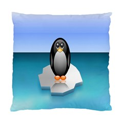 Penguin Ice Floe Minimalism Antarctic Sea Standard Cushion Case (two Sides) by Alisyart