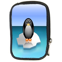 Penguin Ice Floe Minimalism Antarctic Sea Compact Camera Cases by Alisyart