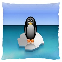 Penguin Ice Floe Minimalism Antarctic Sea Large Cushion Case (one Side)