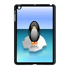 Penguin Ice Floe Minimalism Antarctic Sea Apple Ipad Mini Case (black)