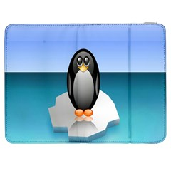 Penguin Ice Floe Minimalism Antarctic Sea Samsung Galaxy Tab 7  P1000 Flip Case