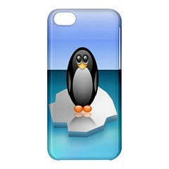 Penguin Ice Floe Minimalism Antarctic Sea Apple Iphone 5c Hardshell Case by Alisyart