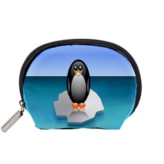 Penguin Ice Floe Minimalism Antarctic Sea Accessory Pouches (small)