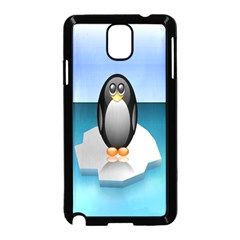 Penguin Ice Floe Minimalism Antarctic Sea Samsung Galaxy Note 3 Neo Hardshell Case (black)