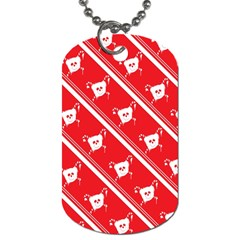 Panda Bear Face Line Red White Dog Tag (two Sides) by Alisyart