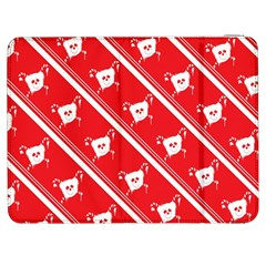 Panda Bear Face Line Red White Samsung Galaxy Tab 7  P1000 Flip Case