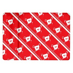 Panda Bear Face Line Red White Samsung Galaxy Tab 10 1  P7500 Flip Case