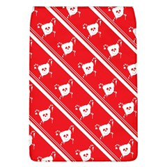 Panda Bear Face Line Red White Flap Covers (l)  by Alisyart