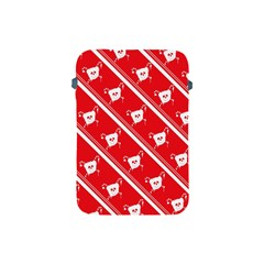 Panda Bear Face Line Red White Apple Ipad Mini Protective Soft Cases by Alisyart