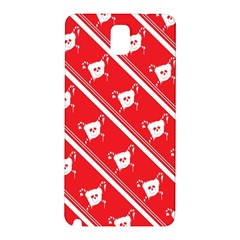 Panda Bear Face Line Red White Samsung Galaxy Note 3 N9005 Hardshell Back Case by Alisyart