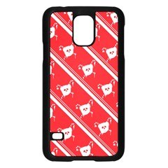 Panda Bear Face Line Red White Samsung Galaxy S5 Case (black) by Alisyart